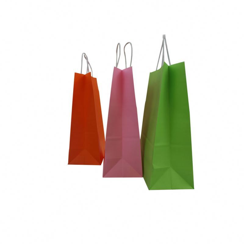New products wholesale kraft paper bag gift packaging square kraft paper bag