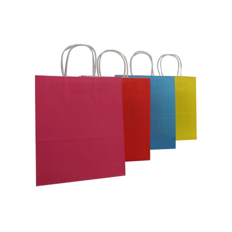 Latest arrival cheap health materials kraft shopping bag with offset printing