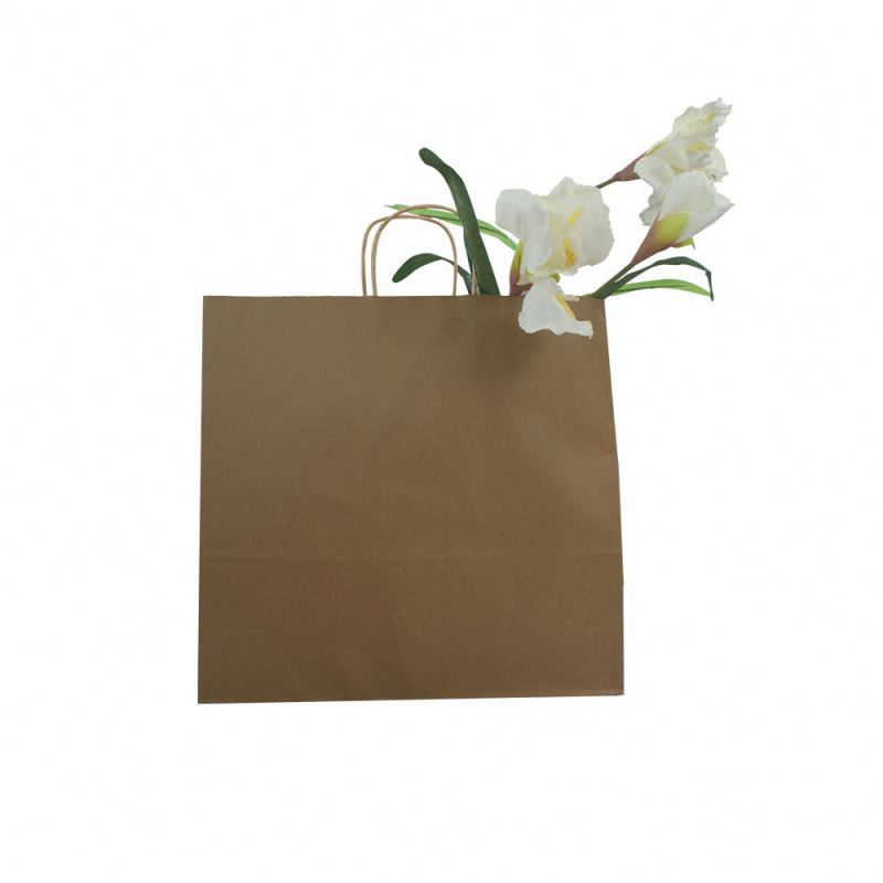 Best prices shopping bag kraft paper wholesale kraft recycle paper bag