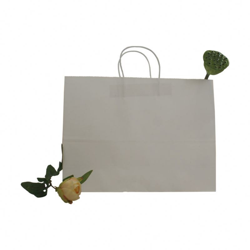 Factory supply kraft paper gift bag with handle recycled kraft paper bag custom