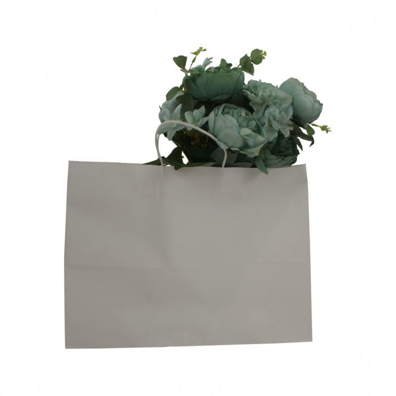 2019 Attractive style kraft paper package bag rope handle kraft paper bag