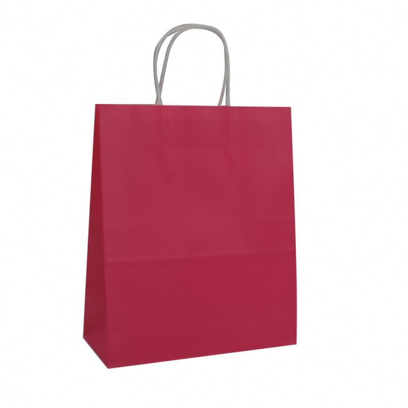 Custom logo kraft paper bags with handle,colorful paper shopping packing bag with printed