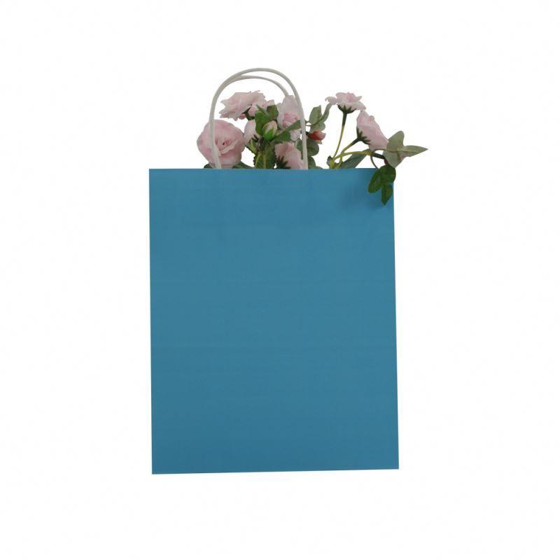 Favorable price kraft paper bag waterproof multicolor kraft paper bag with handle