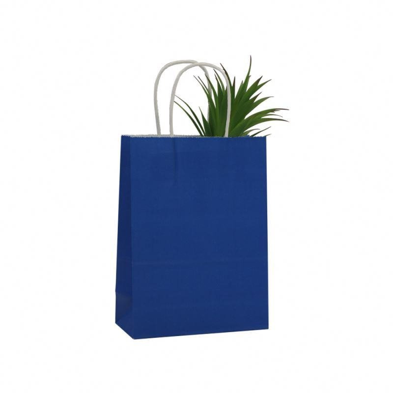 Attractive style kraft shopping paper bag health materials kraft paper bag printed