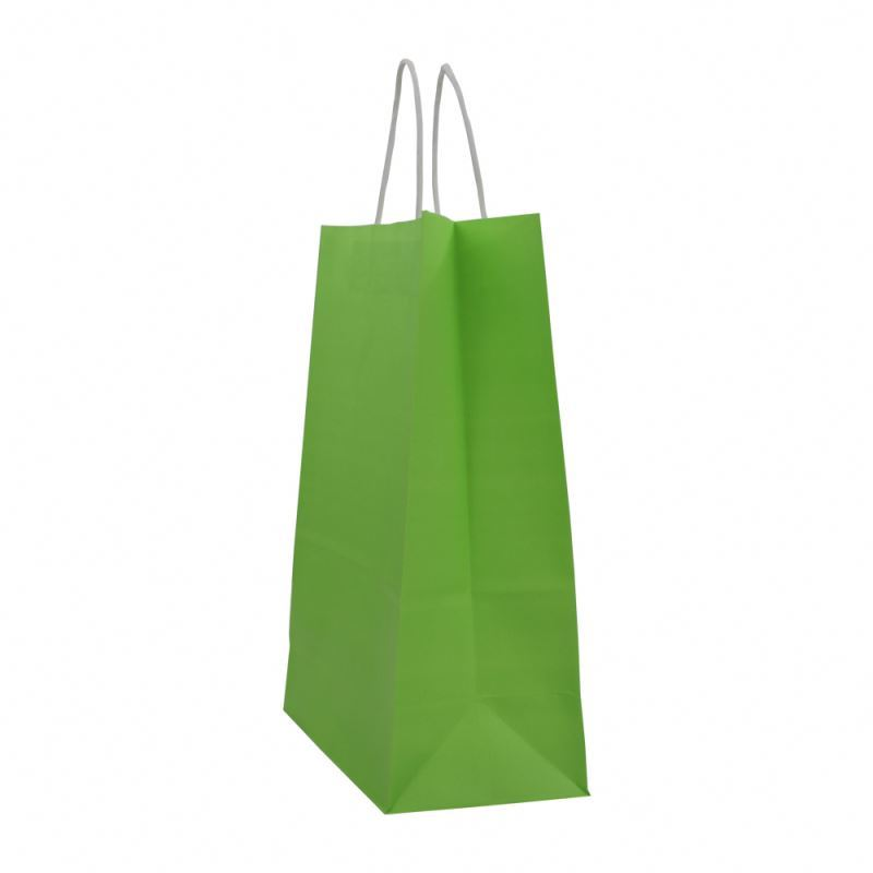 Unique design kraft paper flat bag take away shopping kraft paper bag