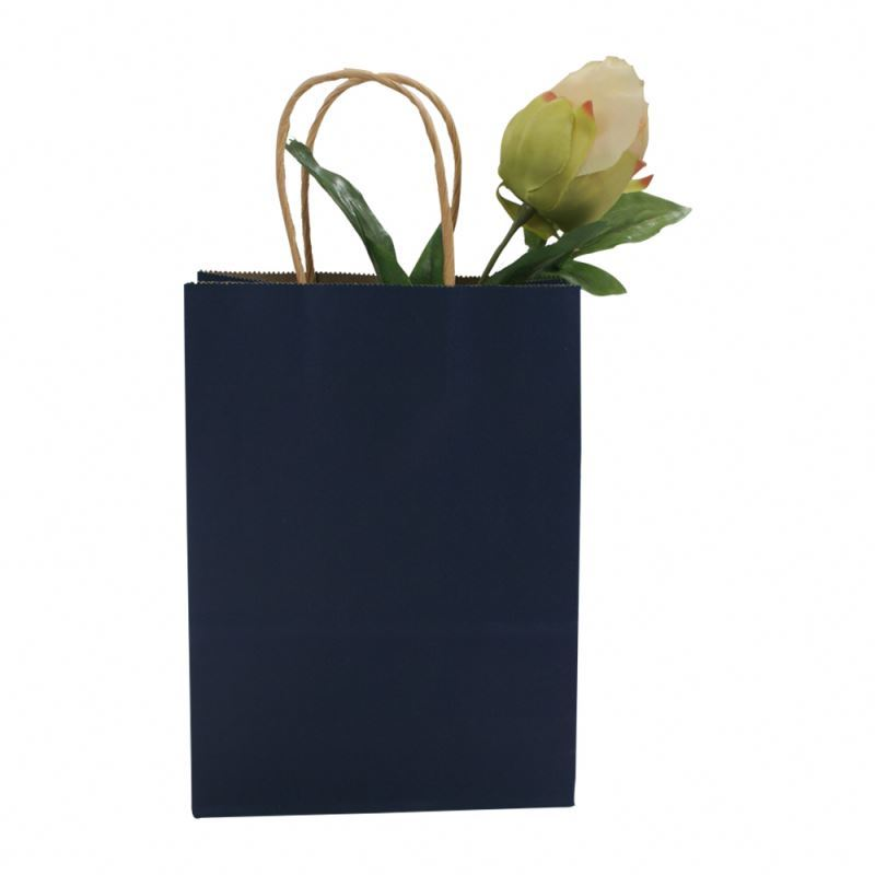 New product kraft bag handle gift packing kraft paper shopping bag