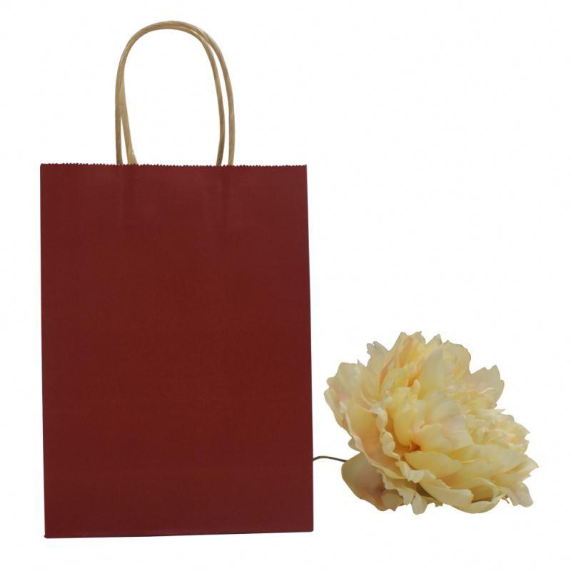 Latest arrival kraft paper carrier bag health materials stand up kraft paper bag