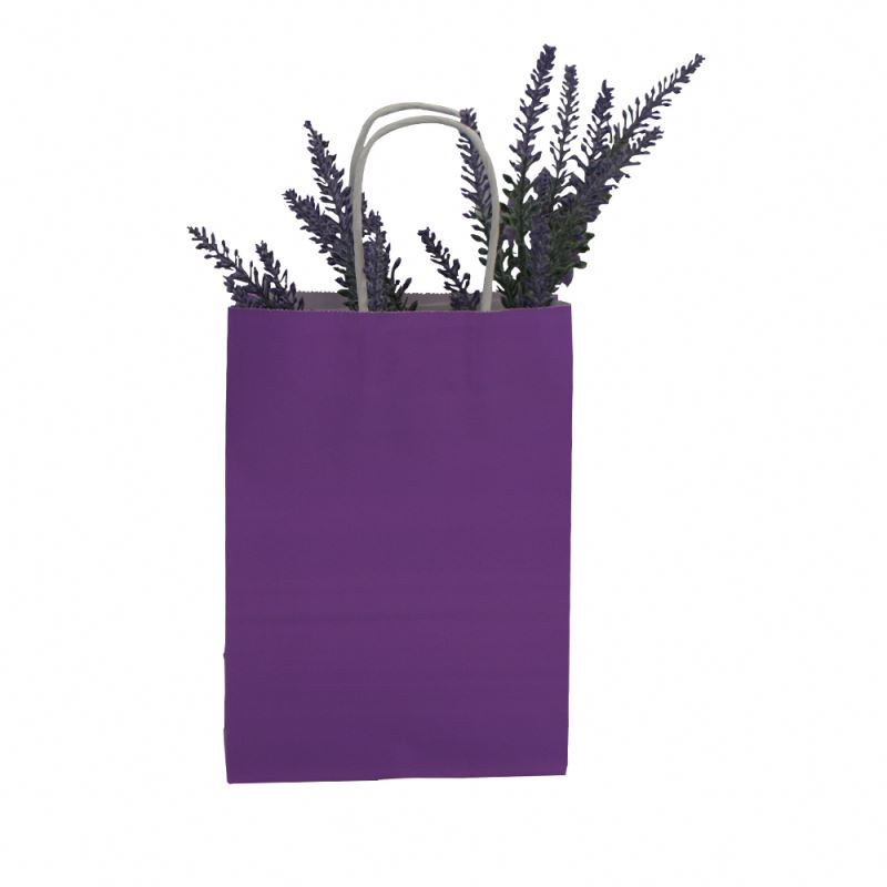 Factory sale packing kraft paper bag cheap handle packing kraft paper bag