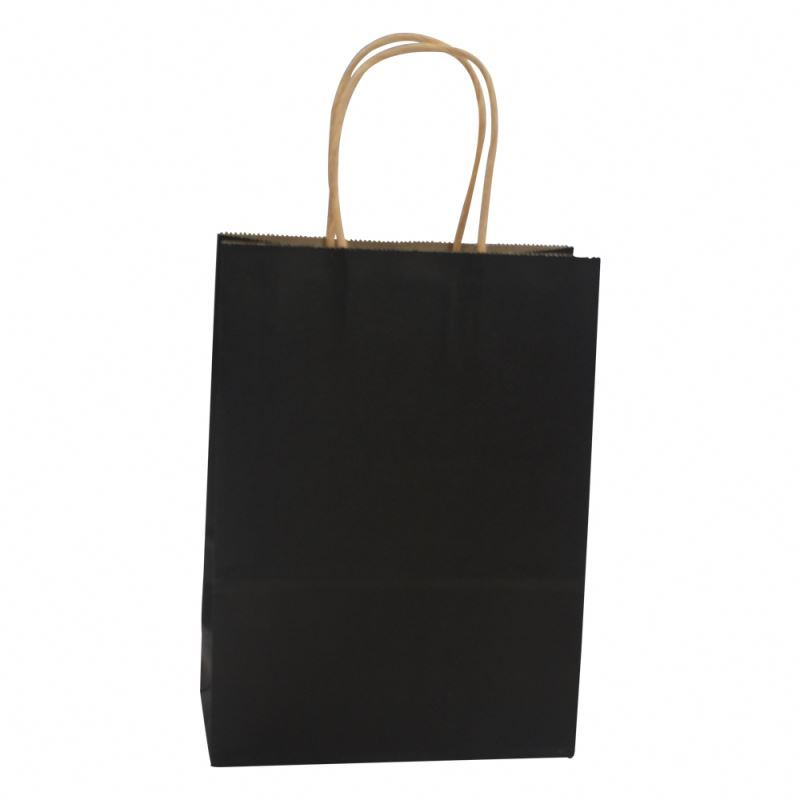 Latest product kraft paper bag packaging customizable black kraft bag