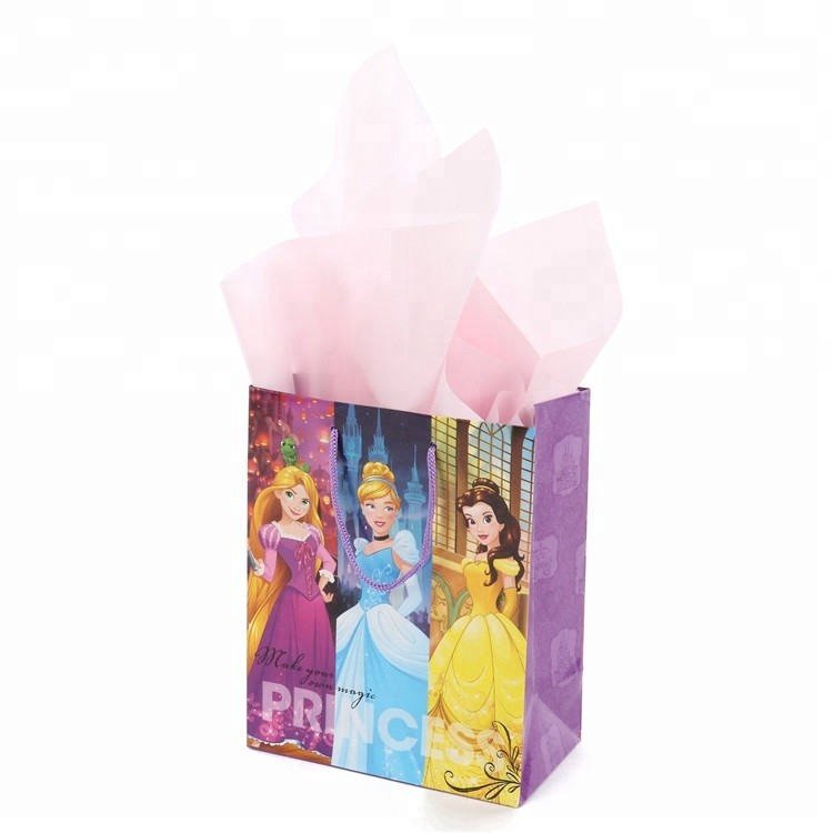 High-quality Small Adorn Article Cartoon Princesses Paper Bag For Gift Packing