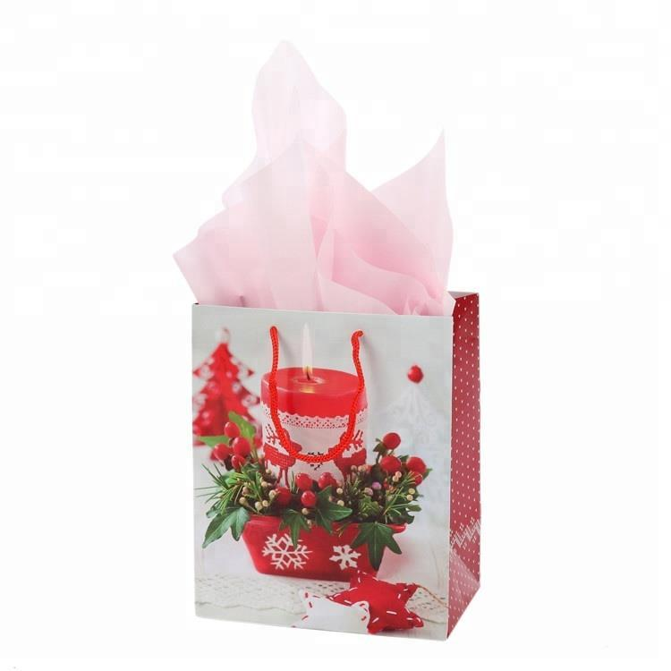 Top Quality Custom Print Glossy Lamination Christmas Gift Paper Bag