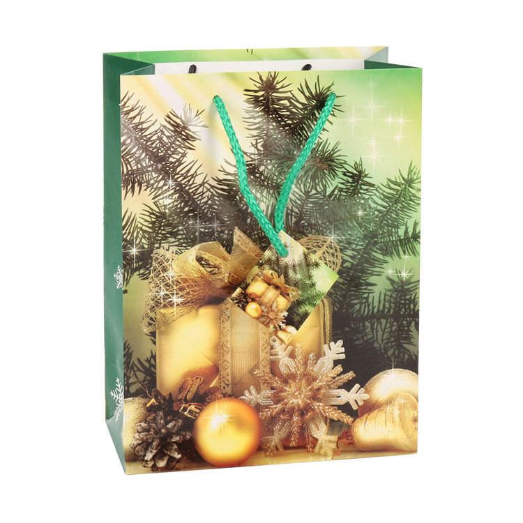 Top Quality Christmas Party Luxury Reusable Decorative Paper Gift Bags With Handles