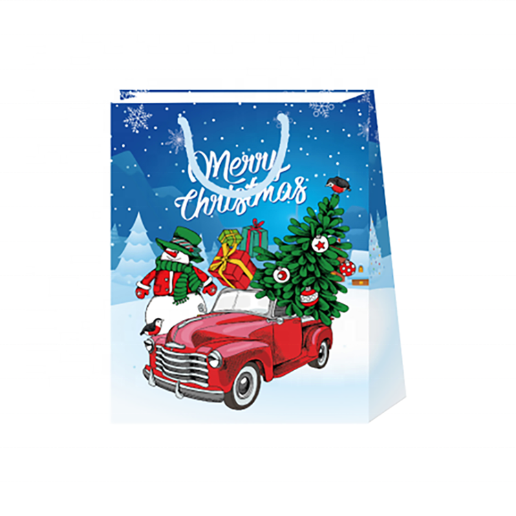 Newest Popular Fashion Cute Cartoon Christmas Tote Bags With Logo Printed