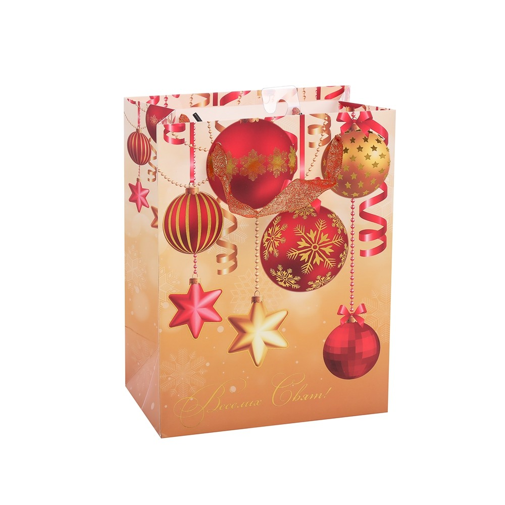 Customized Logo Recyclable Portable High-End Printed Designs Christmas Paper Bag
