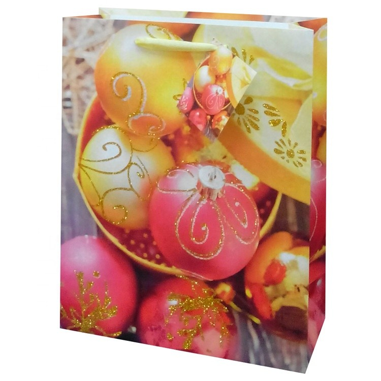Hot Selling Handmade Lovely Foldable Gift Carry Paper Bag With Yellow Ribbon Handle