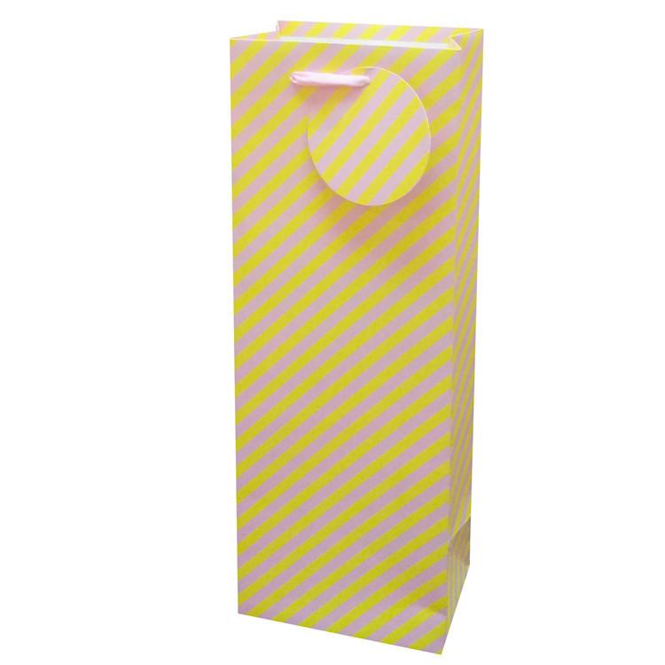 2019 Elegant Design Custom Color Foldable Cardboard Gift Paper Bag With Handles