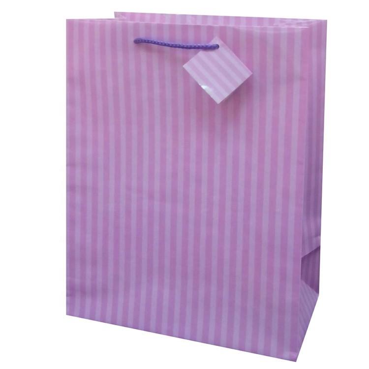 2019 Hot Selling Foldable Lovely Custom Logo Printing Paper Gift Bag, Natrual Paper Shopping Bag