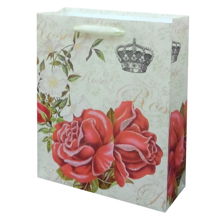 Top Quality Reusable Durable Printing Folding Colorful Wine Gift Paper Bag