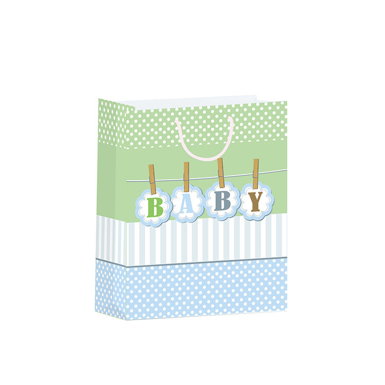 Eco-friendly Simple Design Durable Custom Birthday Paper Gift Bags For Child