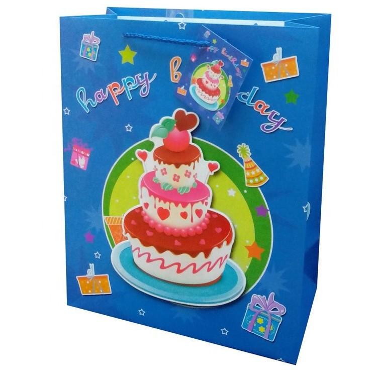 Manufacturer Custom Logo Printing Reusable Folding Durable Gift Paper Carrier Bag