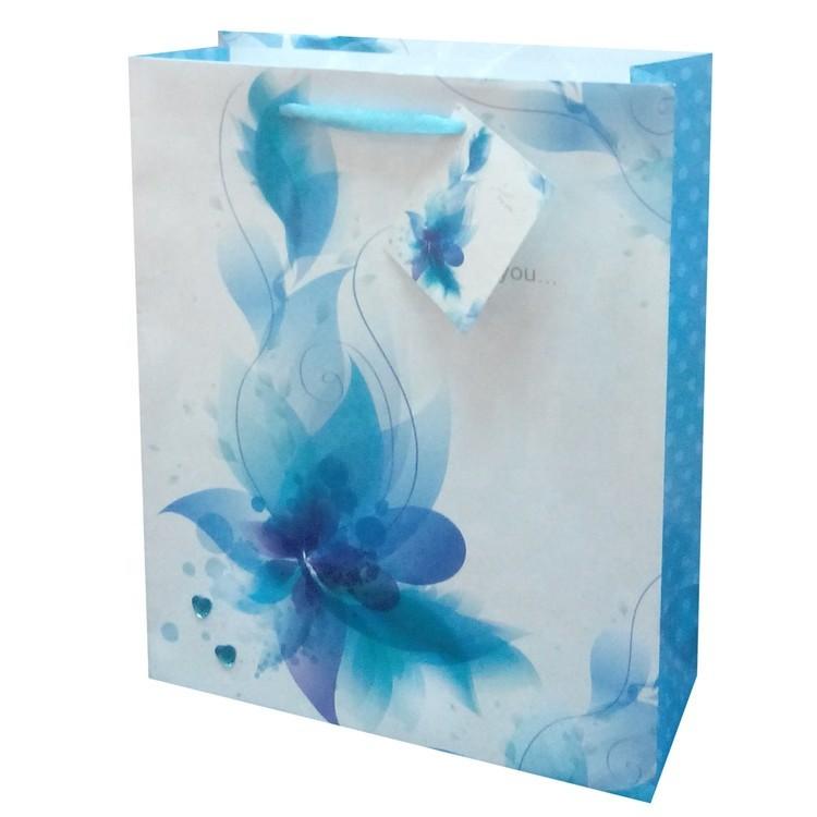 2019 Wholesale Cute Custom Print Foldable Gift Storage Paper Bag With PP Rope Handles