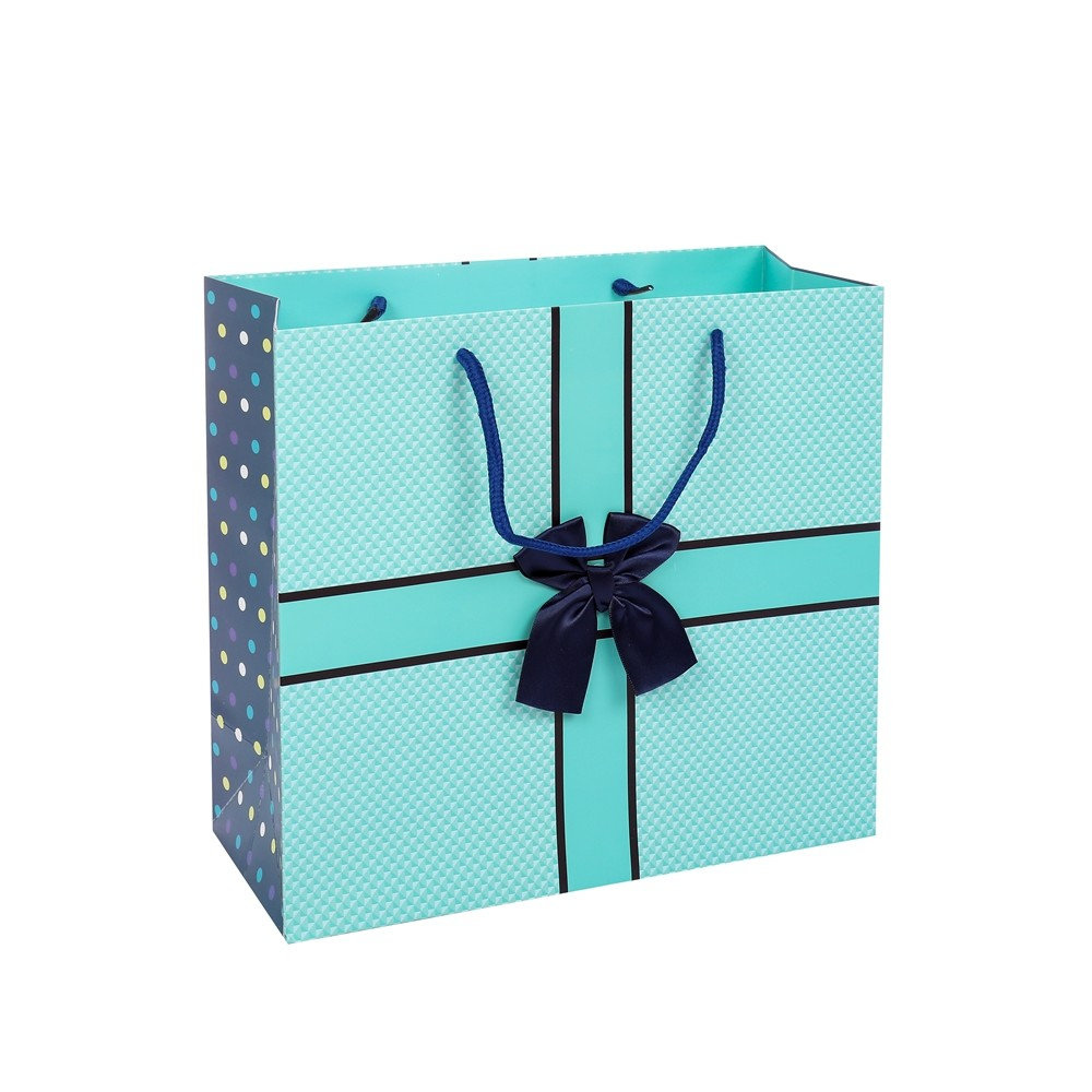 Fashion New Product Eco-friendly Birthday Present Packaging Paper Gift Bags With Rope Handles