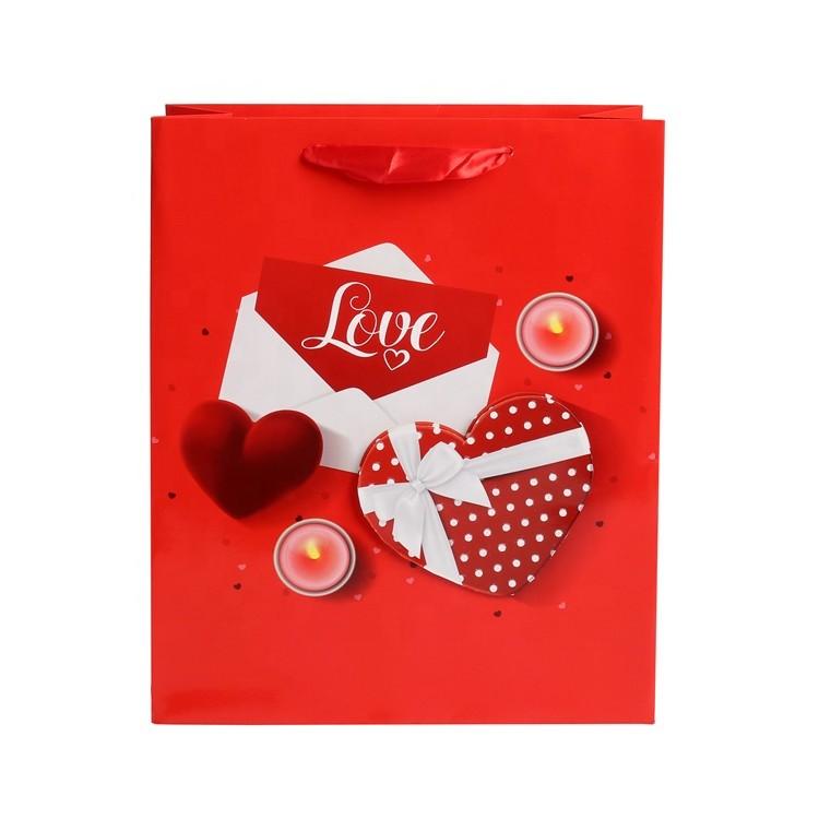 Custom Logo Print Eco-friendly Wide Bottom Fancy Wedding Gift Packaging Kraft Paper Bags With Rope Handles