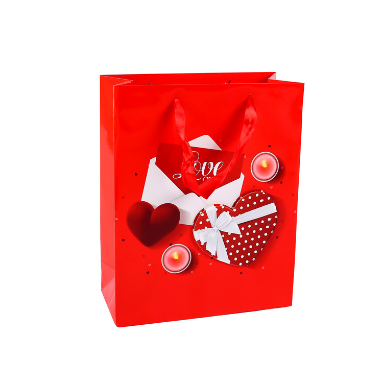 2019 Custom Hot Sale Eco Friendly Gift Bags Red Small Gift Bags With Handles