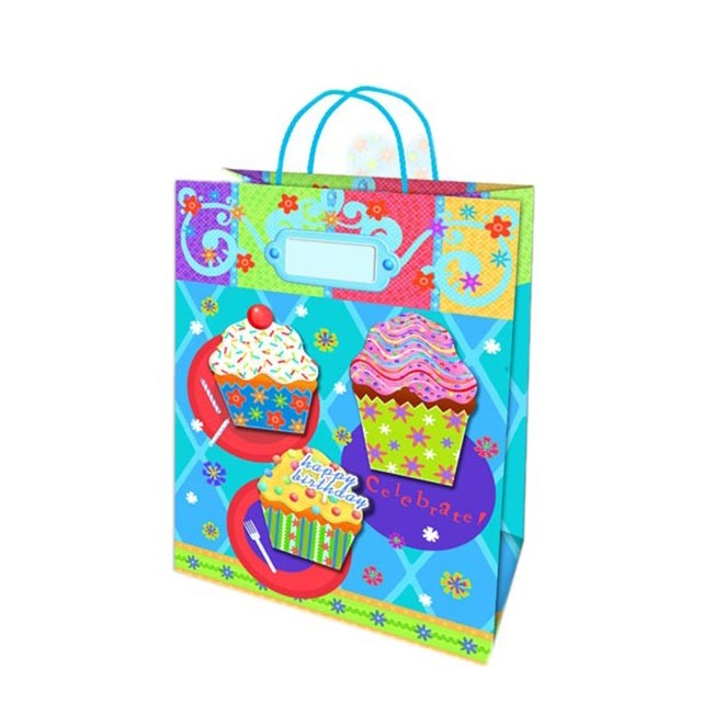 2019 Recycled Foldable Eco-friendly Coated Gift Paper Shopping Bag With PP Rope Handles
