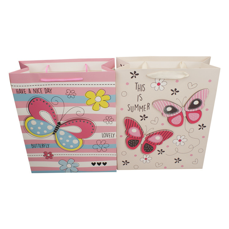 Wholesale china 3d cute animal gift shopping cartoon gift bag with handle