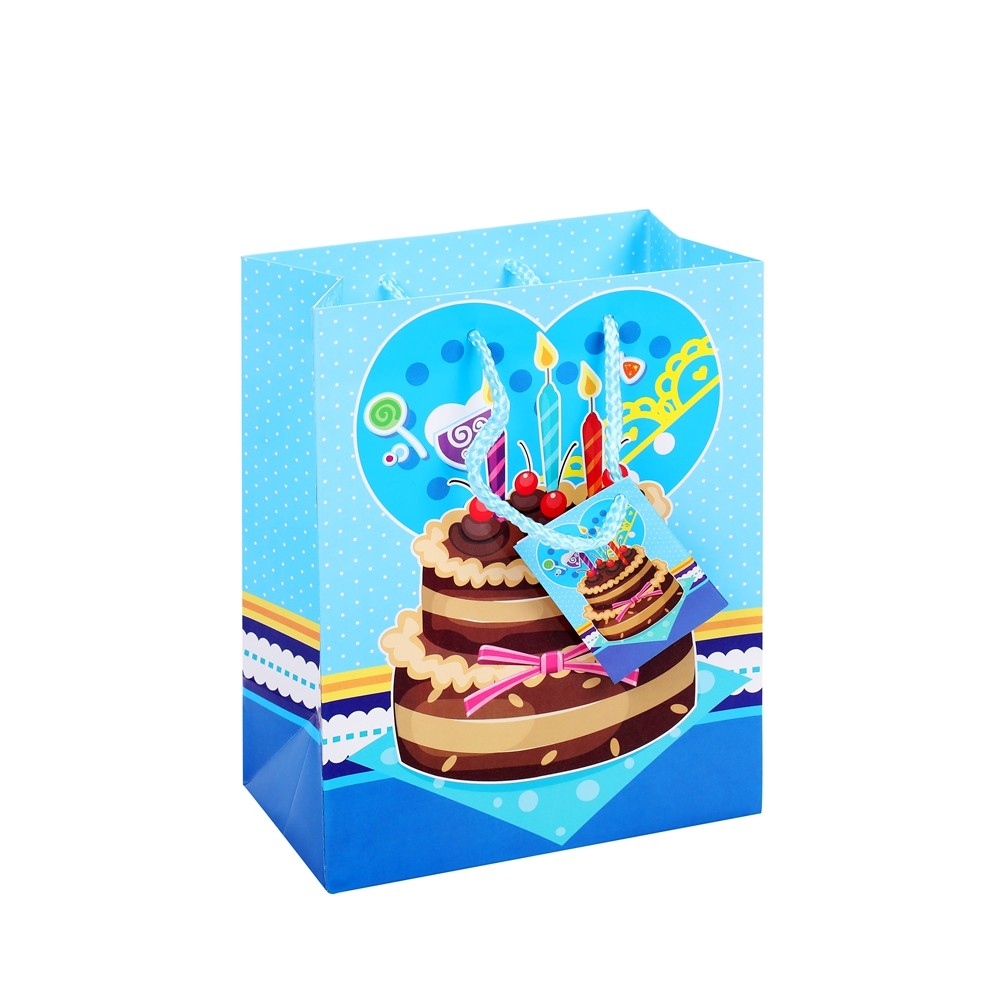 Custom Printed Durable Environmental Birthday Party Paper Gift Bags With Logo Printing