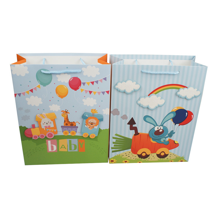 Factory price promotional boutique 3D animals pattern shopping paper bag