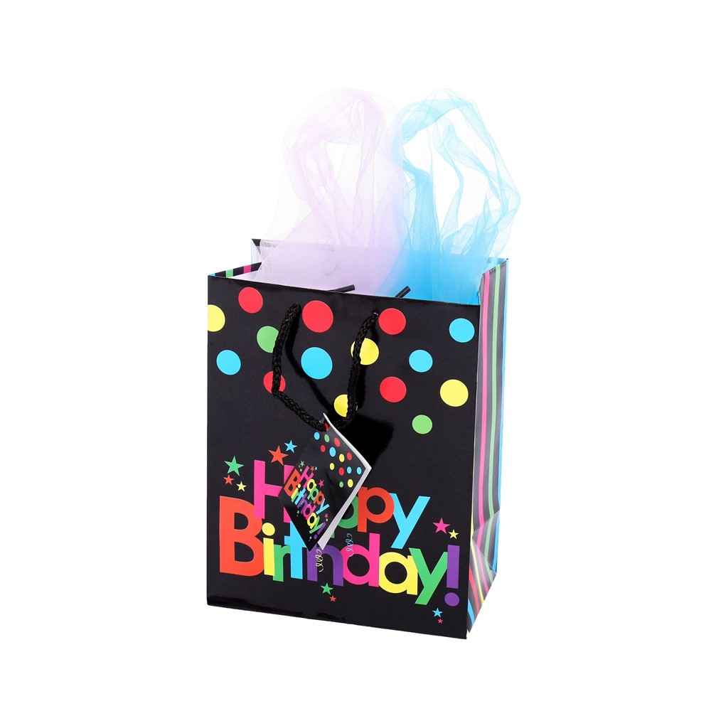 Custom Printed Good Quality Colorful Handmade Birthday Gift Paper Bag With Handle