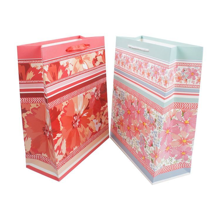 Excellent quality Attractive style uv printing decorative handmade gift paper bag for shopping