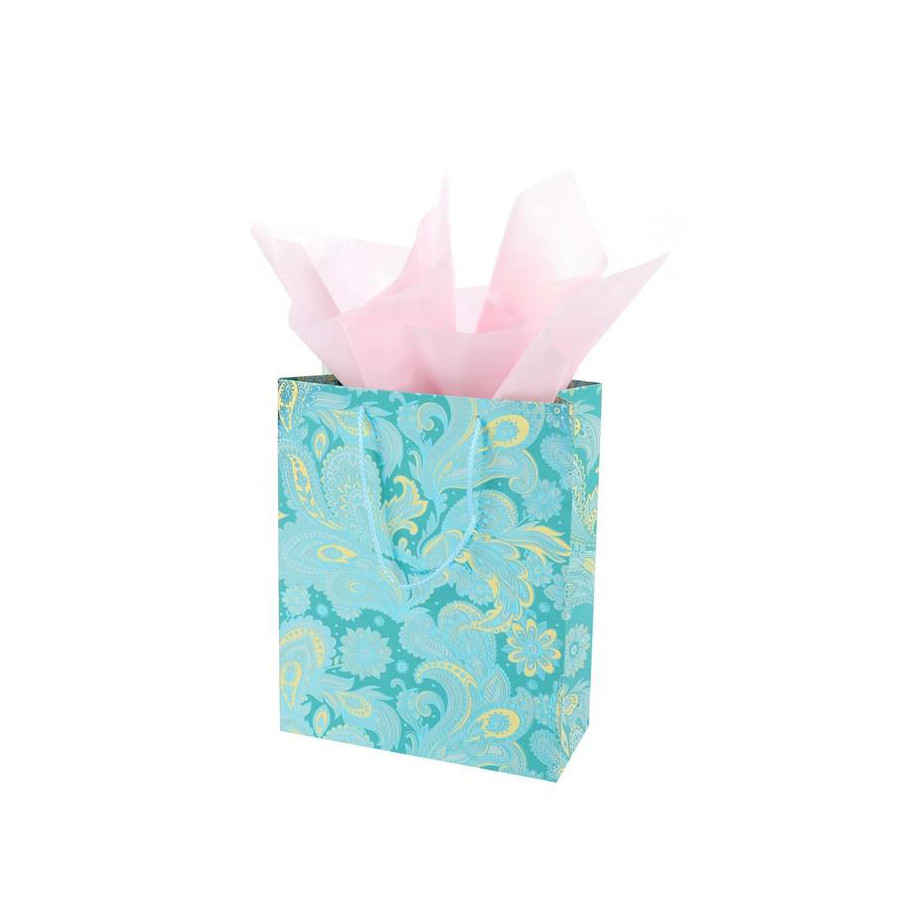 Wholesale Recyclable Custom Printed Jewelry Paper Bags With Handles, Colorful Birthday Party Bag