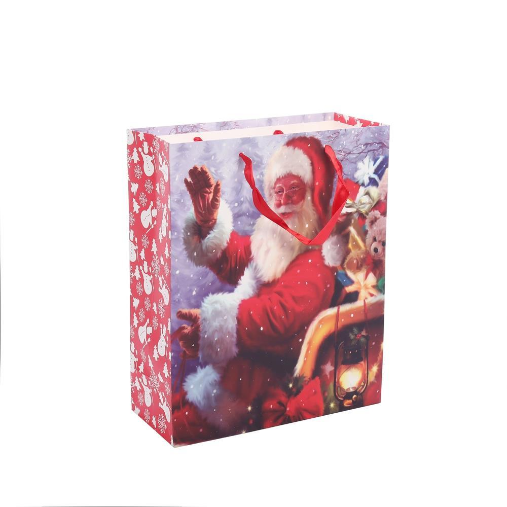 Top Grade Printed Logo Carrier Bags Beautiful Colorful Laminated Christmas Wrapping Gift Bags