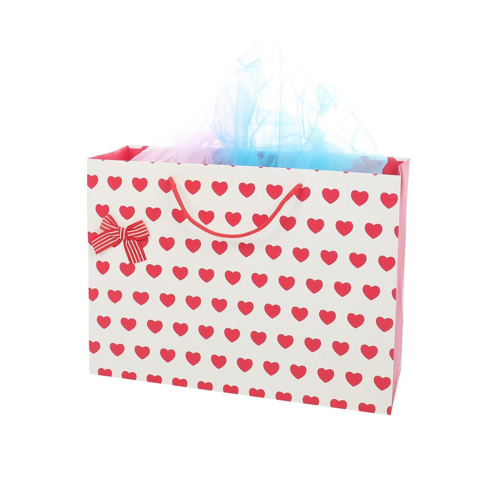 2019 New Products Wholesale Packaging And Printing White Paper Bag With Love Paper Gift Bags