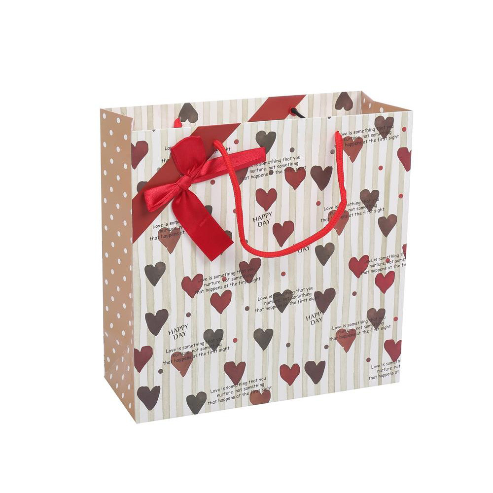 New Product Folding Eco-friendly Reusable Lovely Fancy Paper Gift Bag With Rope Handle