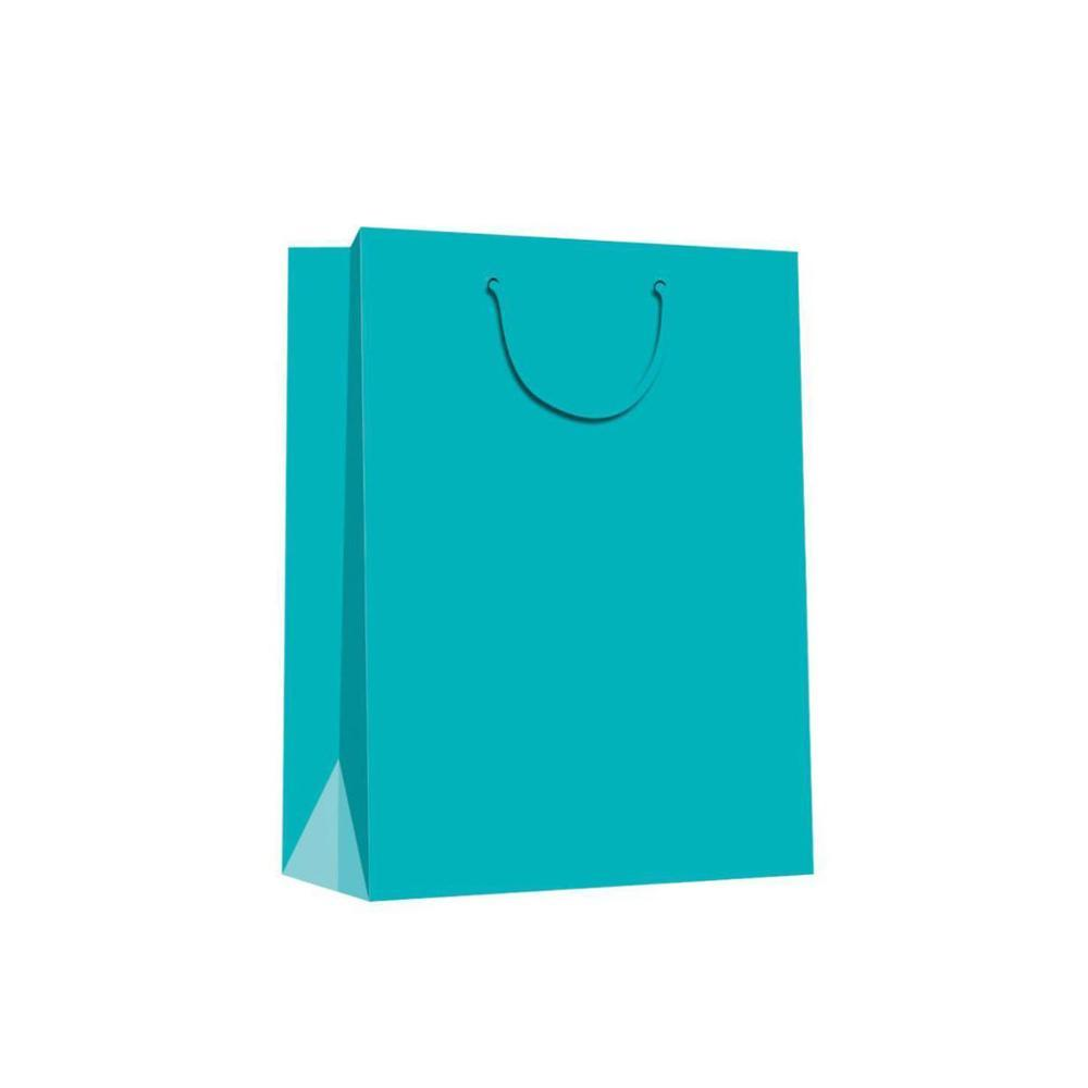 Wholesale Custom Fashion Solid Color Strong Paper Gift Bags With Rope Handles