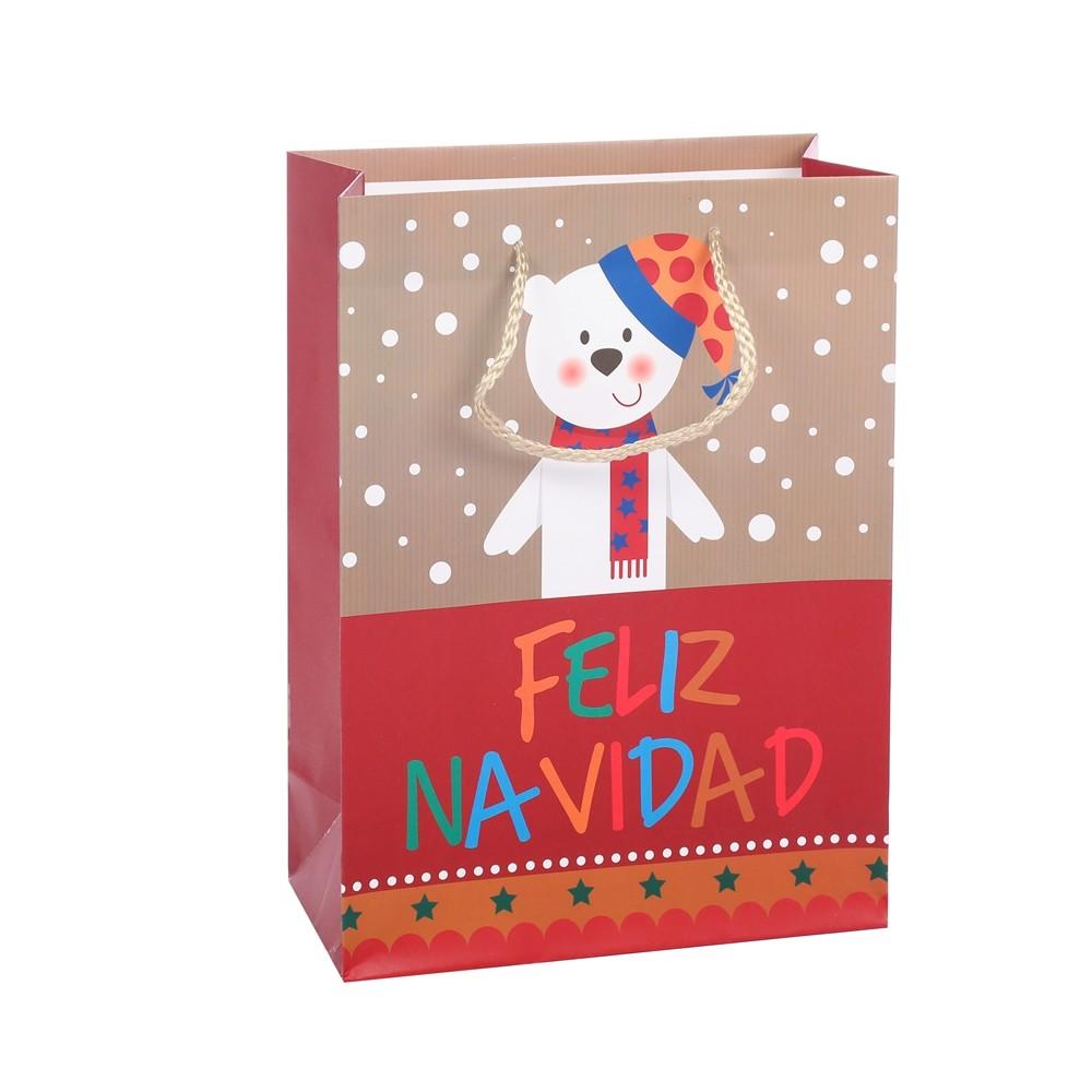 New Design Cartoon Animal Practical Varnishing Shopping Gift Bags For Packaging