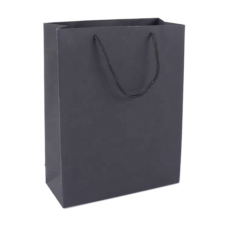 Special Design Single Color Noble Luxury Snack Kraft Ivory Paper Bag With Handle