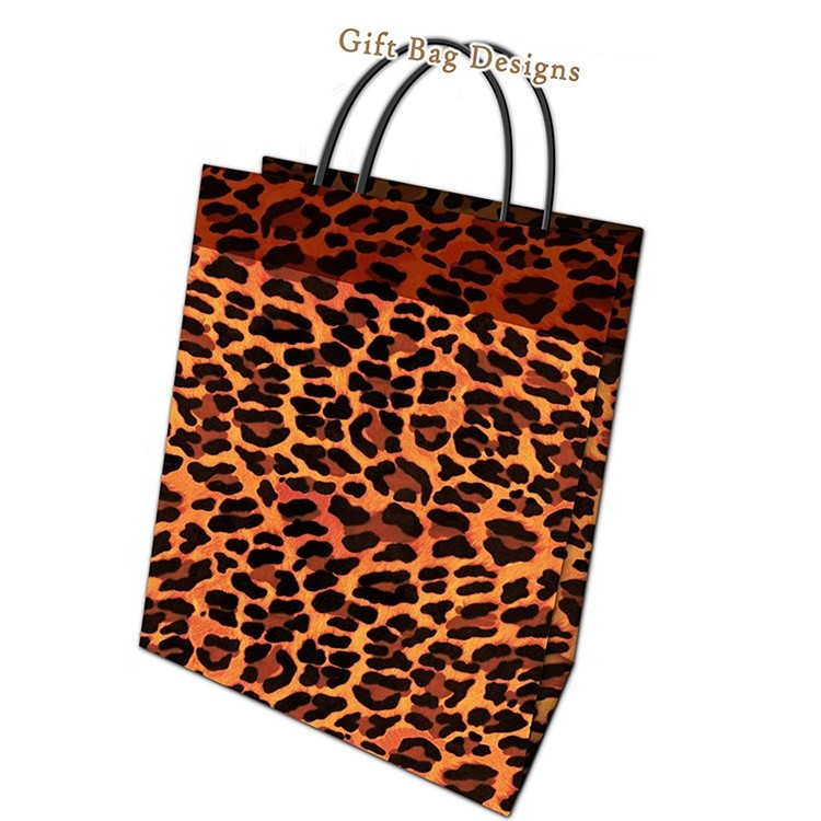 New Product Wholesale Leopard Print Heavy-Duty Prominent Paper Shopping Hand Bags