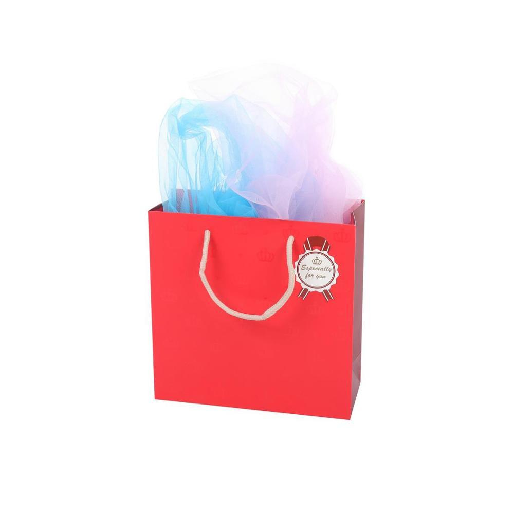 The Latest Design Reusable Durable Fashional Folding Red Paper Shopping Bags