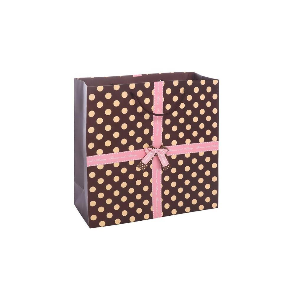 Fashionable New Design Eco-Friendly Recyclable Kraft High-End Gift Paper Bags For Shopping