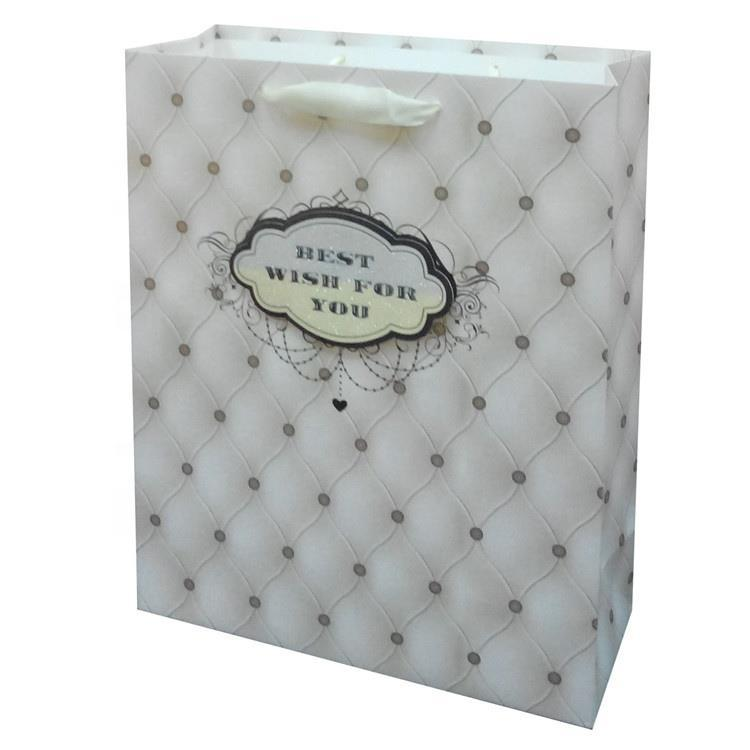 New design Contracted Heavy-Duty Square Bottom Christmas Paper Bag With Character