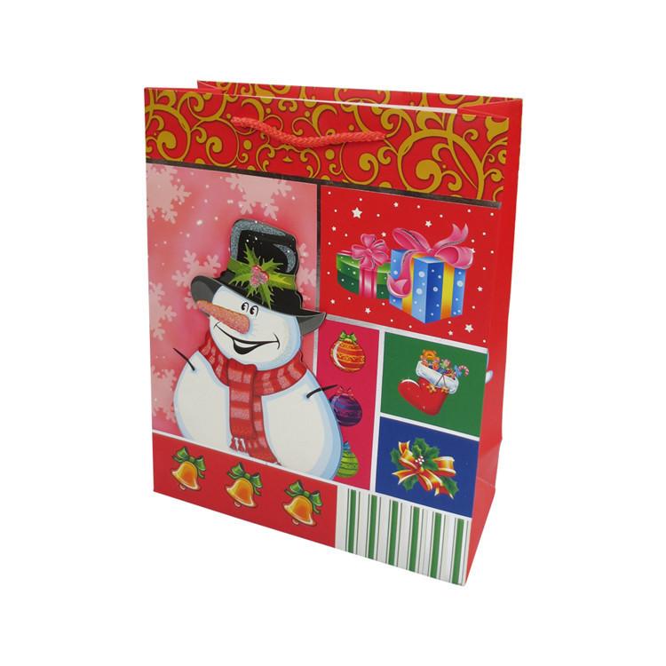 Professional supplier handy paper bag workmanship christmas gift paper bag
