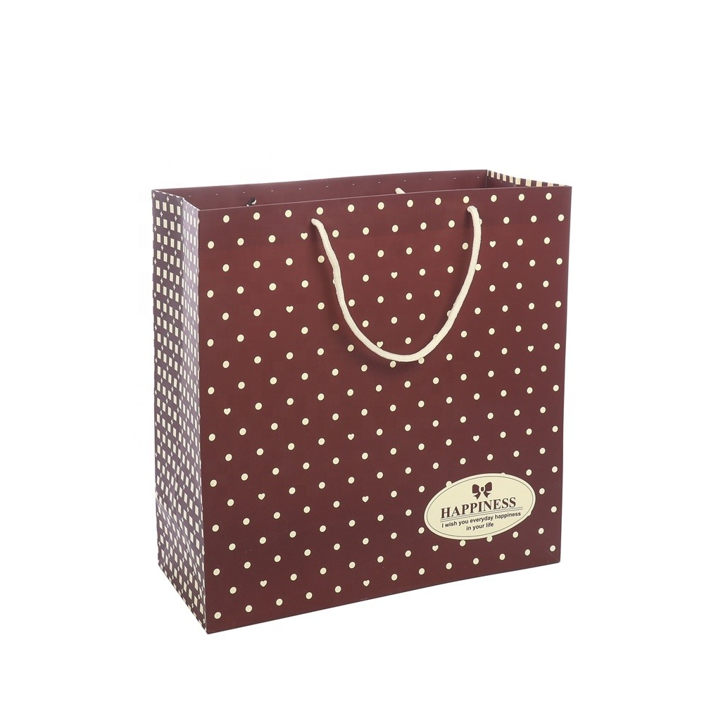 China Wholesale Packaging Bag Low Price Kraft Cute Shopping Paper Gift Bags With Handles