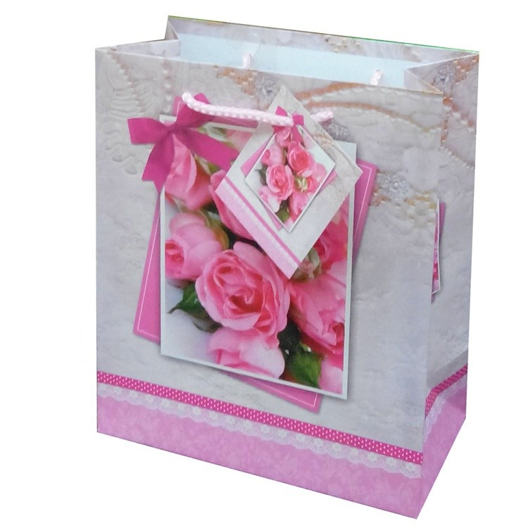 Wholesale Nice Fashionable Paper Shopping Bag/Gift Bag/Custom Paper Bag Printing With Card