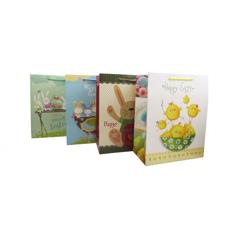 Wholesale OEM custom color paper bag eco-friendly cute cartoon paper gift bag