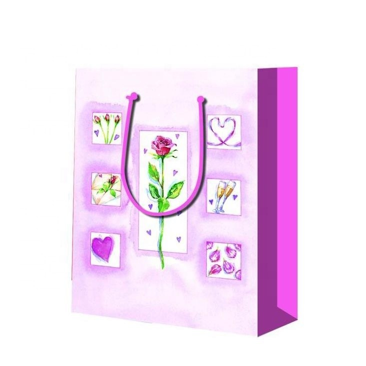 Wholesale Nice Fashionable Large Capacity Paper Gift Bag Printing Butterfly For Birthday